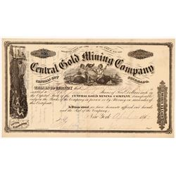 Central Gold Mining Company Stock Certificate   (107150)