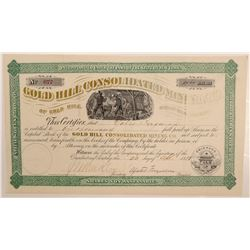 Gold Hill Consolidated Mining Co. Stock Certificate   (107023)