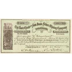 Rock Creek & San Juan Silver Mining Co. Stock Certificate   (104445)