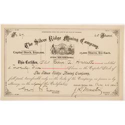 Silver Ridge Mining Company Stock Certificate   (104310)