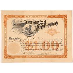 Sheep Mountain Tunnel & Mining Co. Stock Certificate   (104336)