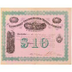 Vanderbilt Consolidated Mining Co. Stock Certificate   (104302)
