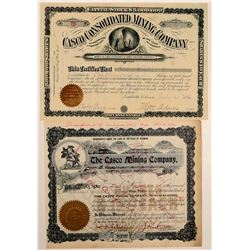 Casco Mining Company Stock Certificates   (107171)