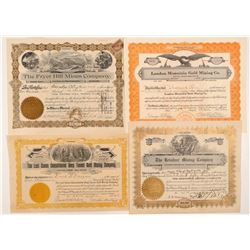 Four Different Leadville Mining Stock Certificates   (103496)