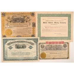 Four Different Leadville Mining Stock Certificates   (103494)