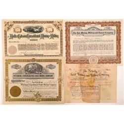 Four Different Leadville Mining Stock Certificates   (103493)