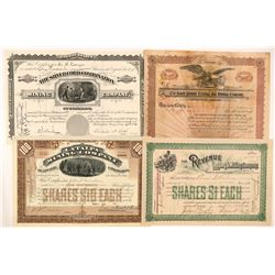 Four Different Leadville Mining Stock Certificates   (103486)