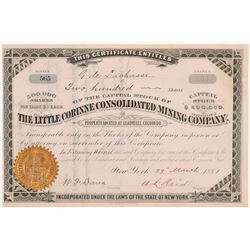 Little Corinne Consolidated Mining Co. Stock Certificate   (107152)