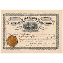 Little Delaware Cons. Mining Company Stock Certificate   (107021)