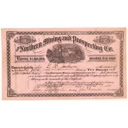 Northern Mining & Prospecting Company Stock Certificate   (107002)