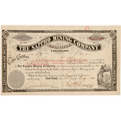 Sappho Mining Company of Leadville Stock Certificate   (104444)