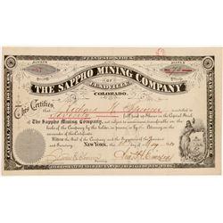 Sappho Mining Company of Leadville Stock Certificate   (104444)