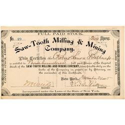 Saw-Tooth Milling & Mining Company Stock Certificate   (104446)