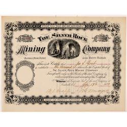 Silver Rock Mining Company Stock Certificate   (104311)