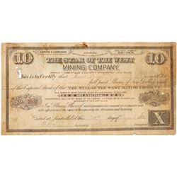 Star of the West Mining Company Stock Certificate   (104323)