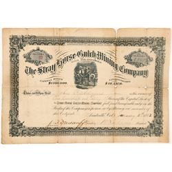 Stray Horse Gulch Mining Company Stock Certificate   (107036)