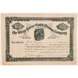 Stray Horse Gulch Mining Company Stock Certificate   (104267)