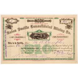 Union Pacific Cons. Mining Company Stock Certificate   (104328)