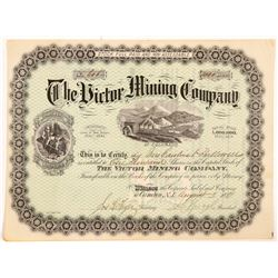 Victor Mining Company of Colorado Stock Certificate   (104389)