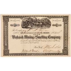 Wabash Mining & Smelting Co. Stock Certificate   (104309)