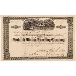 Wabash Mining & Smelting Co. Stock Certificate   (104309)