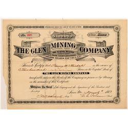 Glen Mining Company Stock Certificate   (107025)