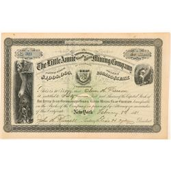 Little Annie Cons. Gold & Silver Mining Co. Stock Certificate   (104478)