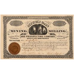 Michigan Mining, Milling & Prospecting Co. Stock Certificate   (107315)