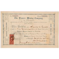 Pioneer Mining Co. of Colorado Stock Certificate   (104344)
