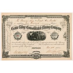 Game Ridge Consolidated Mining Company Stock Certificate   (104270)