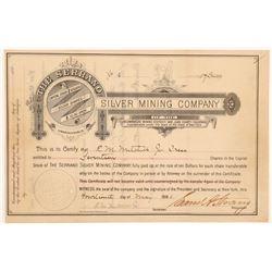 Serrano Silver Mining Company Stock Certificate   (104298)