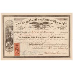 Colorado Gold Mining Company of Philadelphia Stock   (106538)