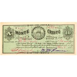 Monte Cristo Mining & Milling Co. Stock Certificate   (104450)
