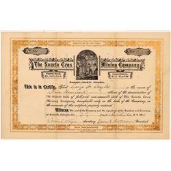 Sancta Crux Mining Company Stock Certificate   (104475)