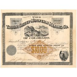 Tabor Sheep Mountain Mining Co. Stock Certificate    (104332)