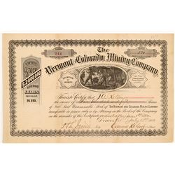 Vermont & Colorado Mining Co. Stock Certificate   (104326)