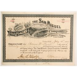 San Miguel Gold Placers CompanY Stock   (89447)