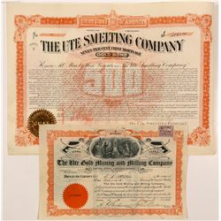 """Ute"" Colorado Mining Stock & Bond   (104189)"