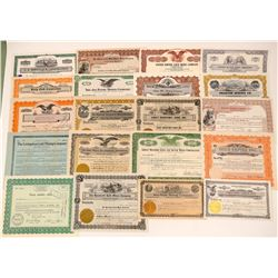 20 Different Colorado Mining Stock Certificates   (103487)