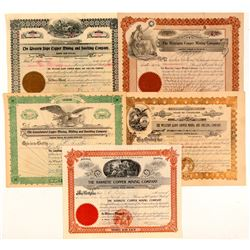 Colorado Copper Mining Stock Certificates   (103482)