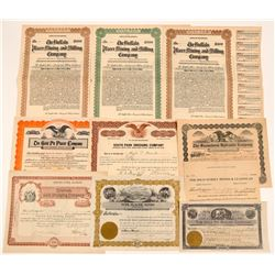 Colorado Gold Placer Mining Stock Certificates & Bonds   (104183)