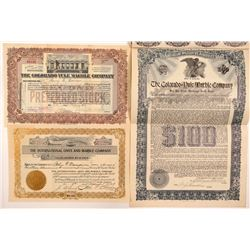 Colorado Marble Mining Stock Certificates & Bond   (103490)
