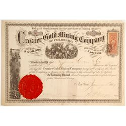 Crozier Gold Mining Company of Colorado Stock   (79740)