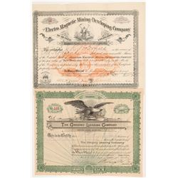 Two Colorado Mining Stock Certificates   (104357)