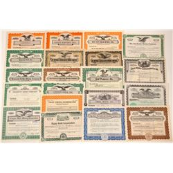20 Different Colorado Mining Stock Certificates   (103489)