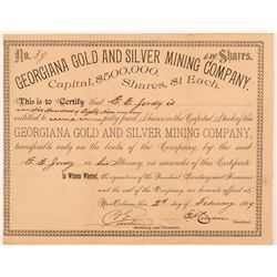 Georgiana Gold & Silver Mining Company Stock Certificate   (107282)