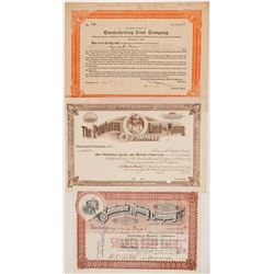 Three Native American Themed Mining Stock Certificates incl Georgia   (104276)