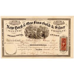 New York & Oro Fino Gold & Silver Mining Co. Stock Certificate   (107077)