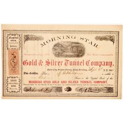 Morning Star Gold & Silver Tunnel Co. Stock Certificate   (107072)