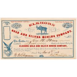 Elkhorn Gold & Silver Mining Co. Stock Certificate   (107073)